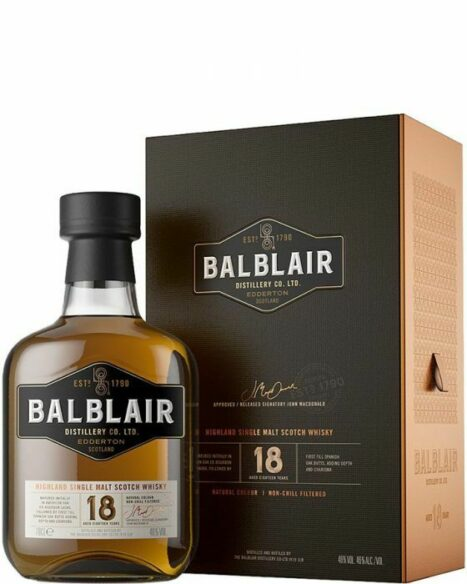 Whisky Balblair 18 years
